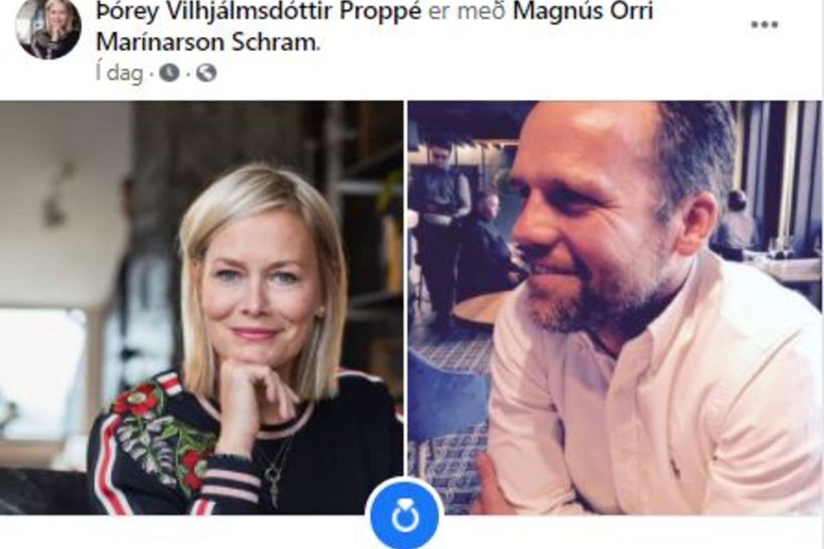 Þórey Vilhjálmsdóttir Proppé og Magnús Orri Schram.