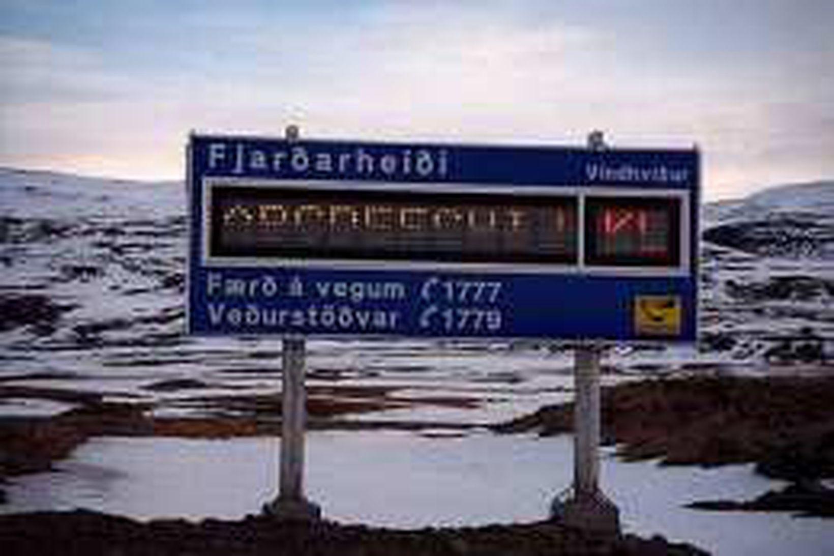 Fjarðarheiði er oft talsverður farartálmi á vetrum.
