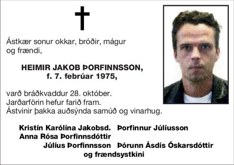 Heimir Jakob Þorfinnsson,