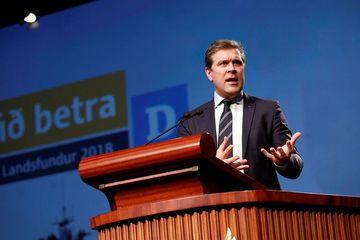 Bjarni Benediktsson, leader of Iceland's Independence Party.