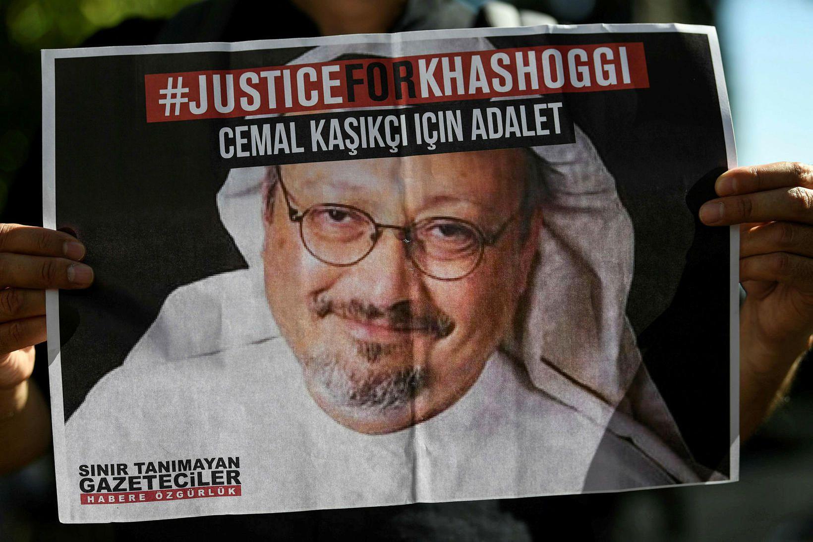 Jamal Khashoggi, blaðamannsins sem var myrtur í október 2018.