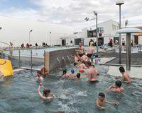 Jaðarsbakkalaug swimming pool in  Akranes, South West Iceland.
