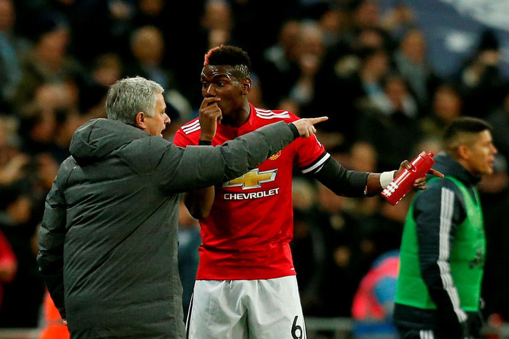 Samband José Mourinho og Paul Pogba var afar sérstakt.