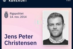 Svona lítur stafrænt ökuskírteini erkidanans Jens Peters Christensens út.