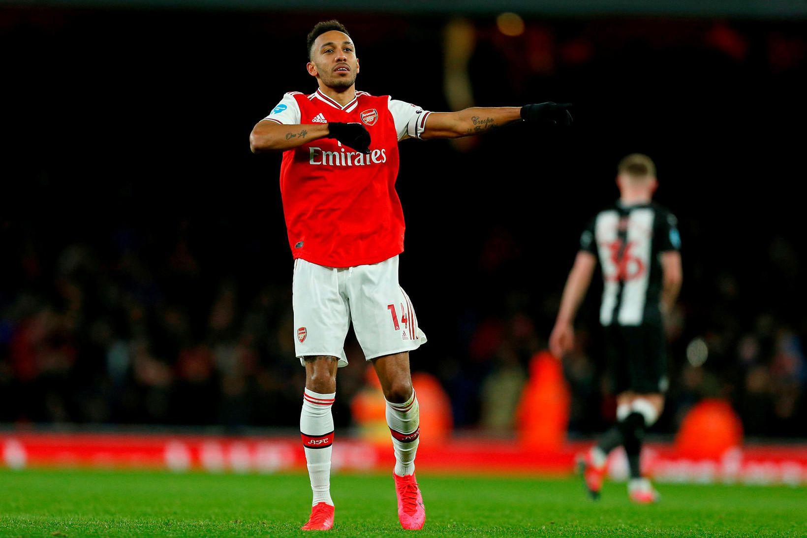 Pierre-Emerick Aubameyang hefur skorað 61 mark fyrir Arsenal síðan hann …
