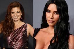 Debra Messing er ekki ánægð að sjá Kim Kardashian sem kynni í Saturday Night Life.