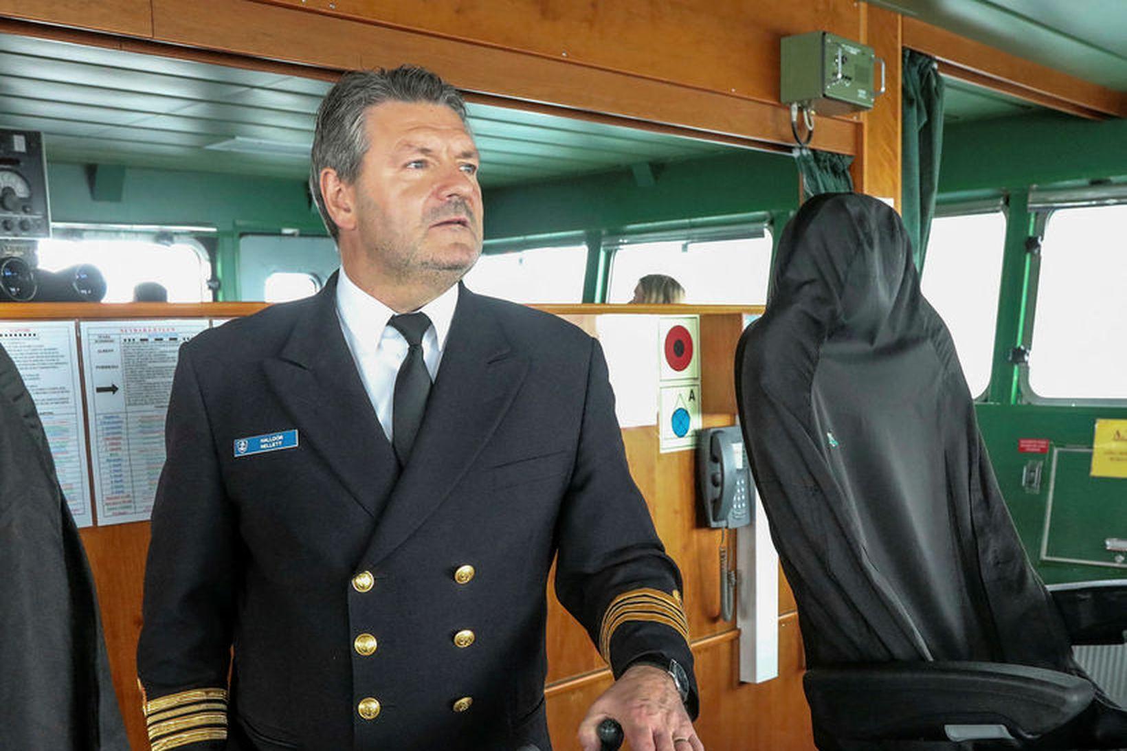 Halldór B. Nellett hefur verið skipherra hjá Landhelgisgæslunni síðan 1992 …
