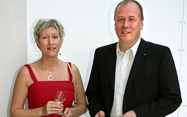 Anna Fjeldsted og Arnaldur Indriðason eru glæsileg hjón.