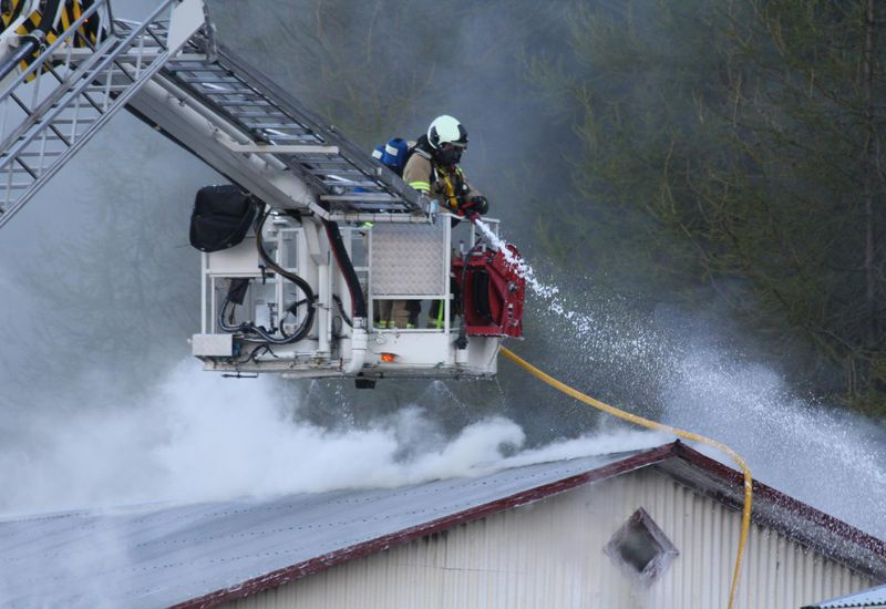 Firefighters at work.