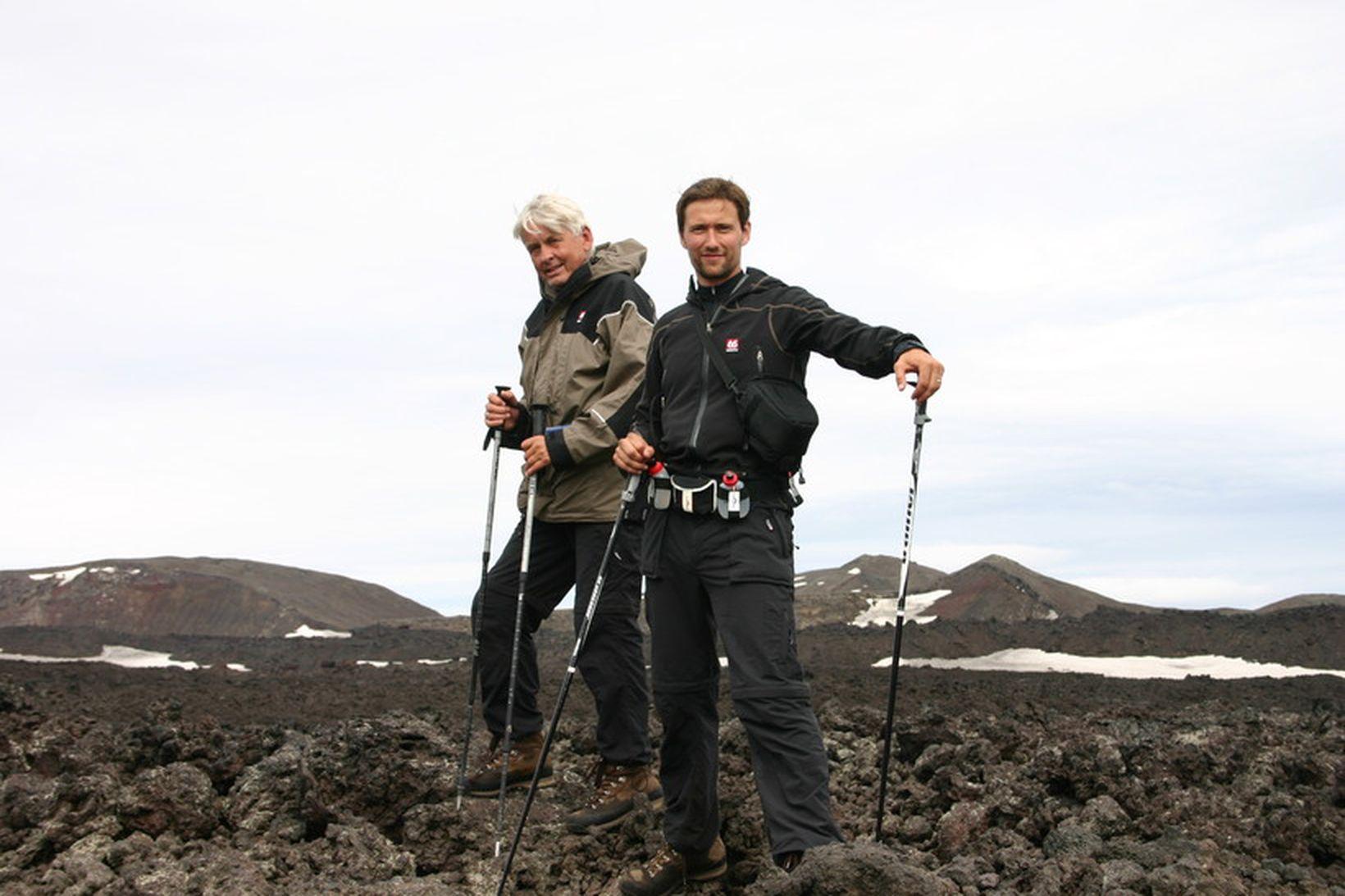 Björn Magnússon og Hálfdan Steinþórsson hyggjast ganga um 200 km …