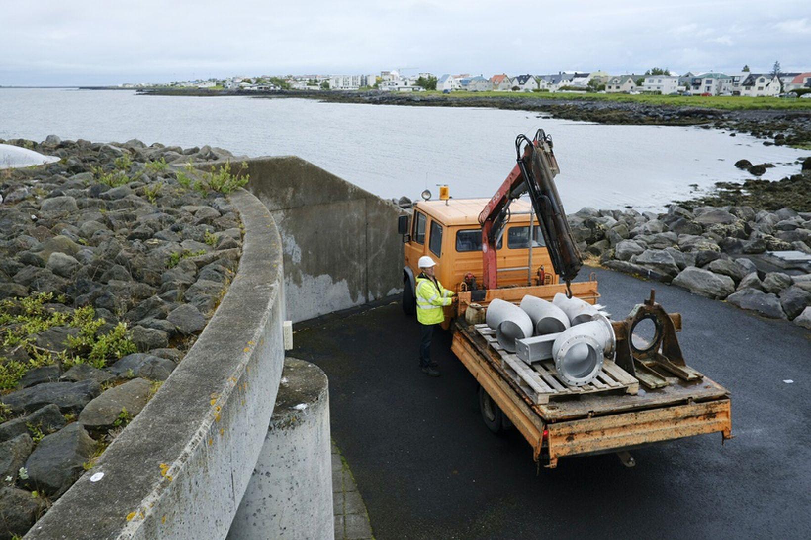 Skólpdælustöðin við Faxaskjól í Reykjavík.