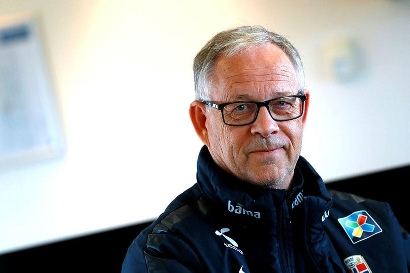 Lars Lagerbäck landsliðsþjálfari Norðmanna.