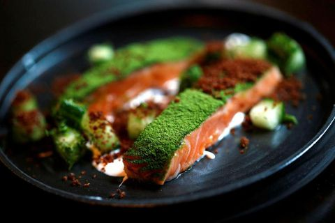 A dish from Dill, the only restaurant to hold a Michelin Star in Iceland.