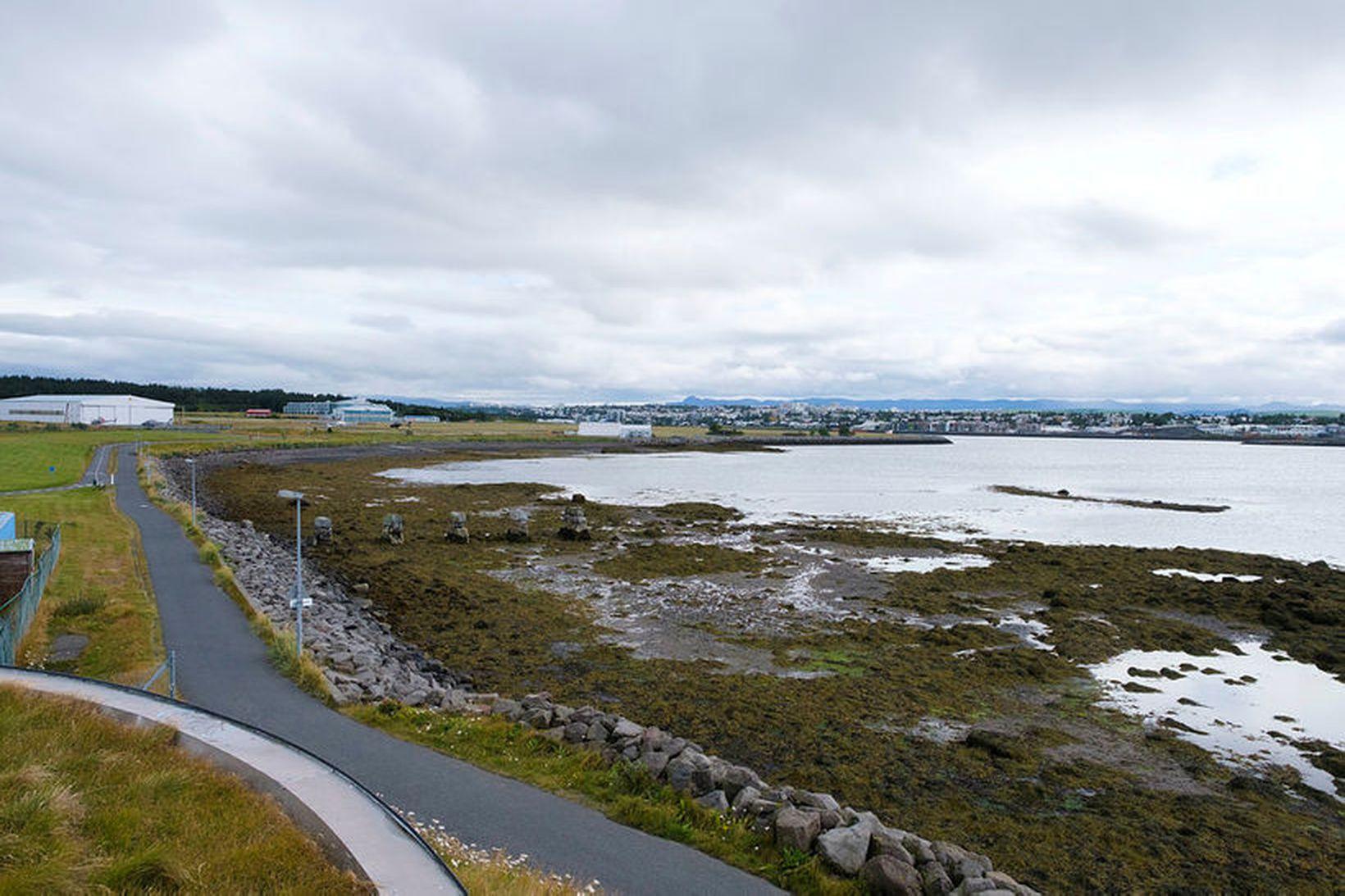 Áform eru um 4,3 hektara landfyllingu og sjóvarnargarð fyrir nýja …