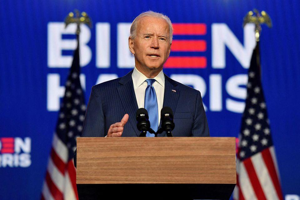 Fréttastofur í Bandaríkjunum hafa margar lýst Joe Biden forseta eftir nýjustu tölur í Pennsylvaníu.