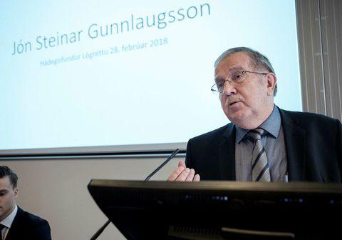 Jón Steinar Gunnlaugsson var gestur Páls Magnússonar á Þingvöllum í morgun.