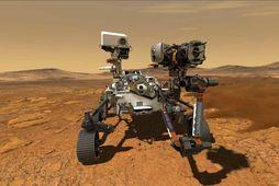 Perseverance byggir á Curiosity könnuðinum sem lenti á Mars árið 2012. Hann mun geta ferðast …
