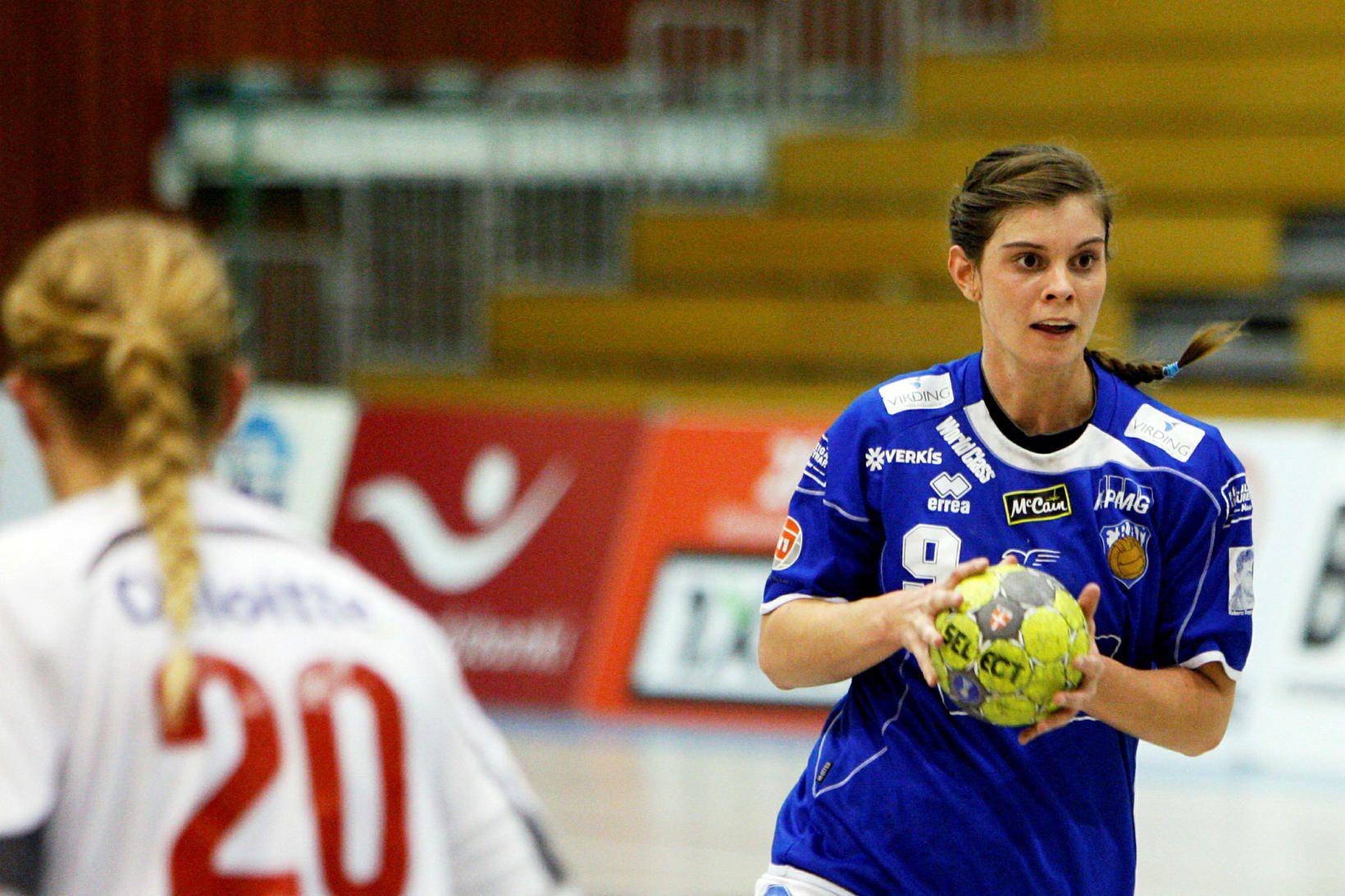 Stella Sigurðardóttir í leik með Fram.