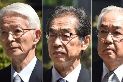 Tsunehisa Katsumata, Ichiro Takekuro og Sakae Muto eru þeir einu sem ákærðir voru vegna kjarnorkuslyssins …