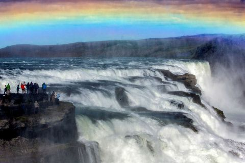 The area around the famous Gullfoss waterfalls is one of the areas in danger according to the report.