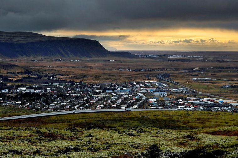 The trash bag was discovered in the slope Kambar, near Hveragerði.