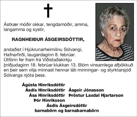 Ragnheiður Ásgeirsdóttir,