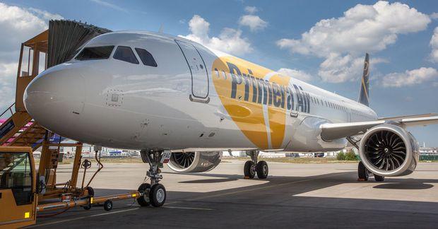 Airbus 321-flugvél Primera Air.