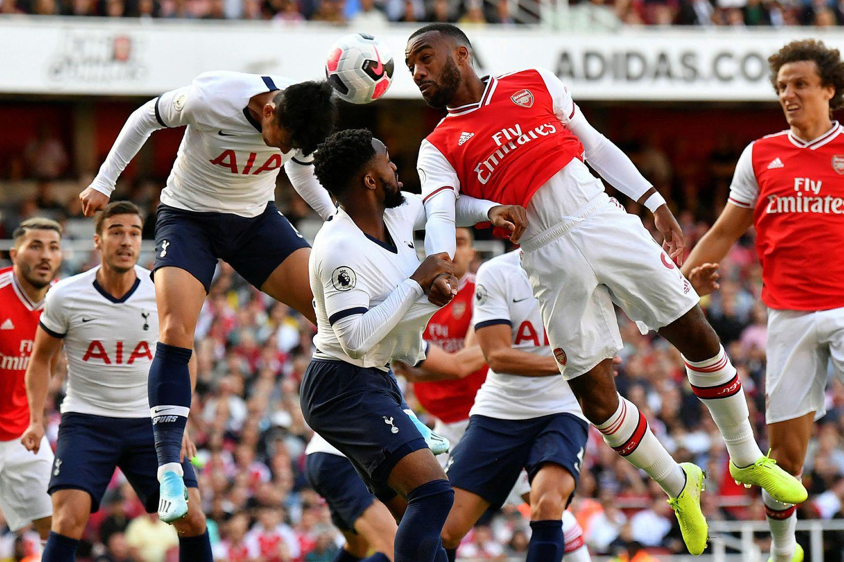 Arsenal og Tottenham etja kappi á Emirates-leikvanginum síðasta haust.