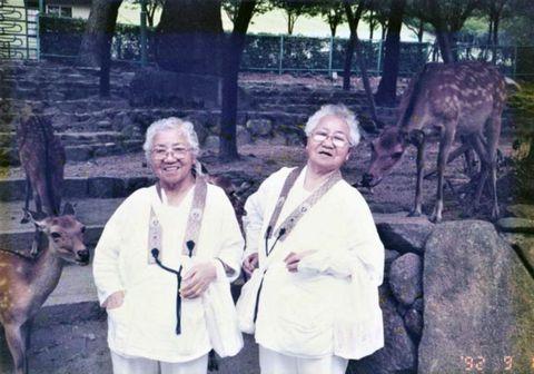 Umeno Sumiyama og Koume Kodama eru elstu eineggja tvíburar í heimi.