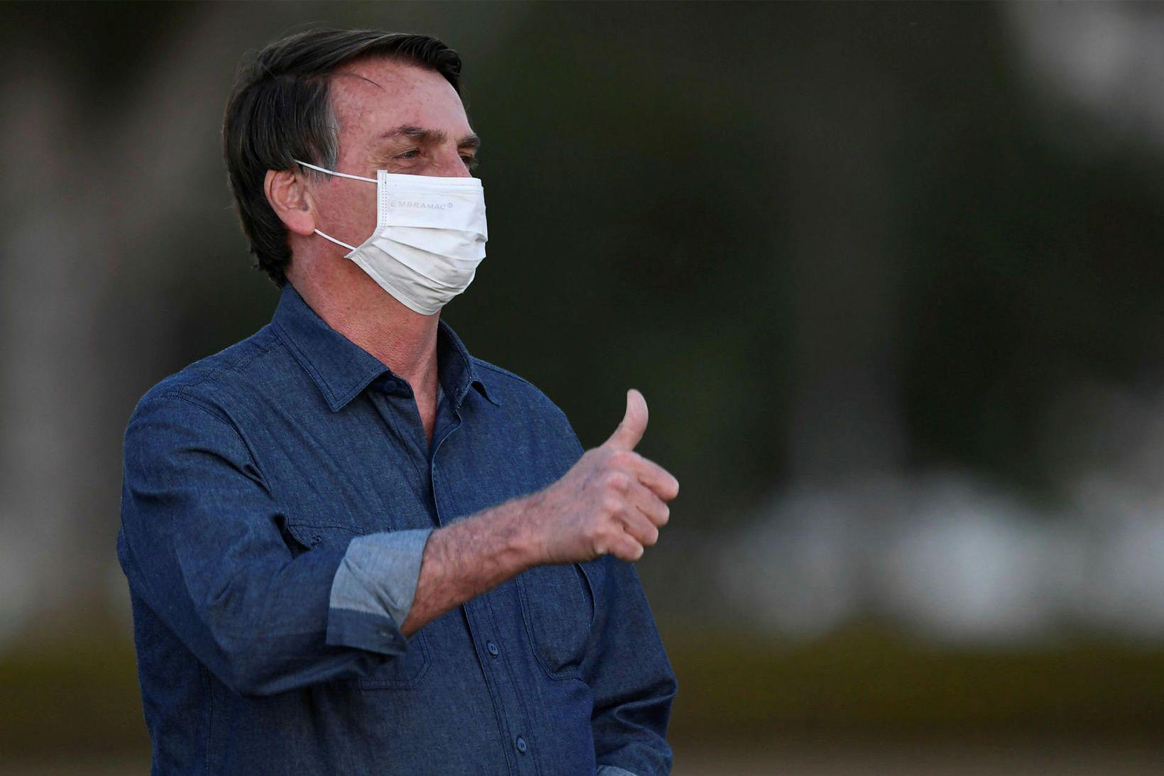 Jair Bolsonaro, forseti Brasilíu, ætlar að taka nýtt próf á …