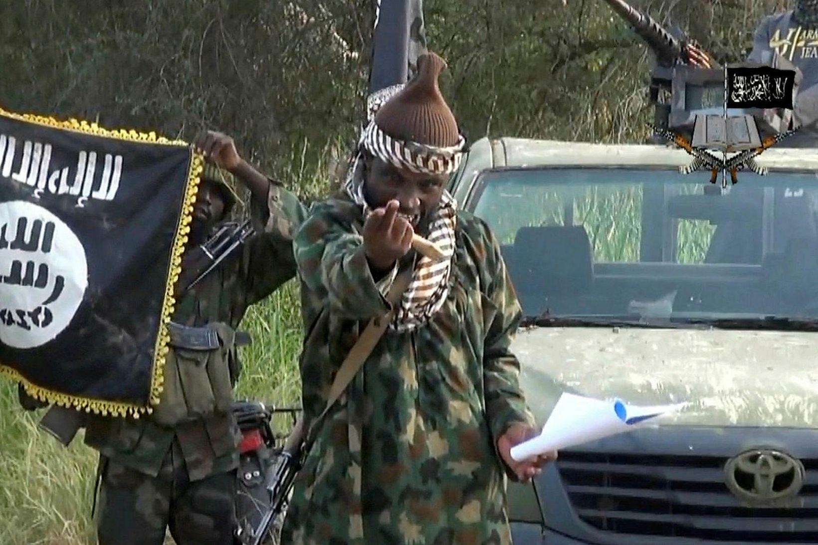 Abubakar Shekau árið 2014.