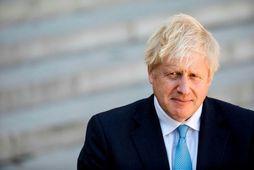 Boris Johnson í París í gær, áður en hann fundaði með Macron Frakklandsforseta.
