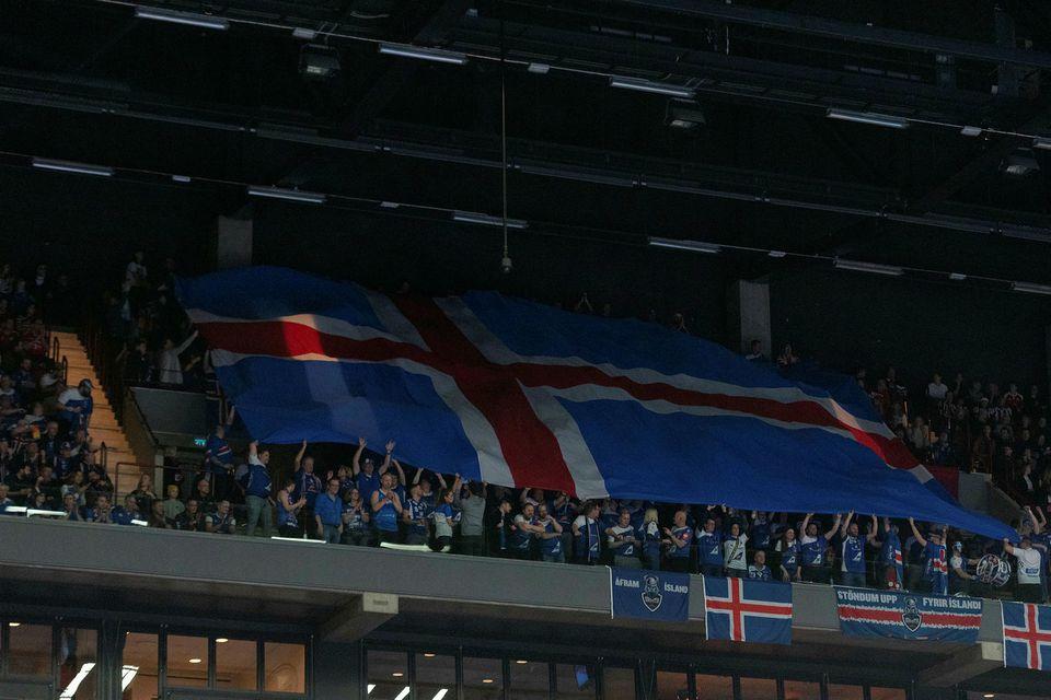 Íslenskir stuðningsmenn í Malmö.