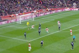 Frakkinn kom Arsenal til bjargar (myndskeið)