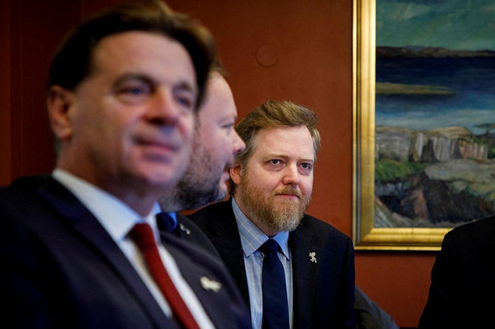 Karl Gauti Hjaltason, Bergþór Ólason og Sigmundur Davíð Gunnlaugsson voru …