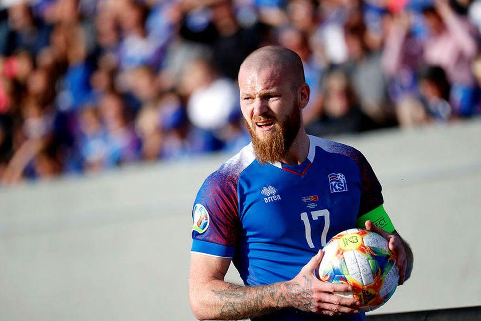 Aron Einar Gunnarsson, fyrirliði Íslands, var ómyrkur í máli eftir ...