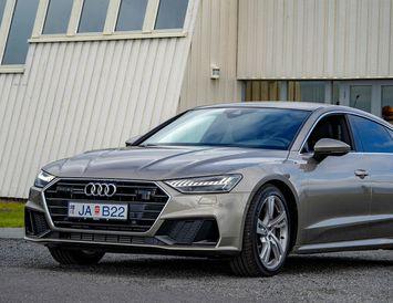 Audi A7 er aðeins 5,7 sekúndur upp í hundrað kílómetra hraða á klukkustund.