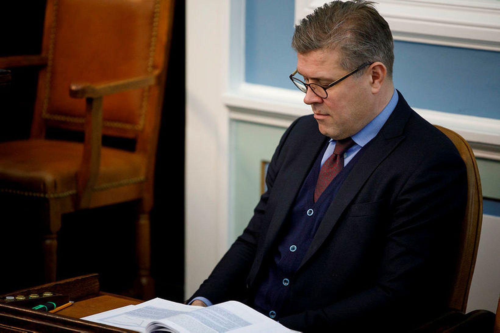 Bjarni Benediktsson, fjármálaráðherra og formaður Sjálfstæðisflokksins.