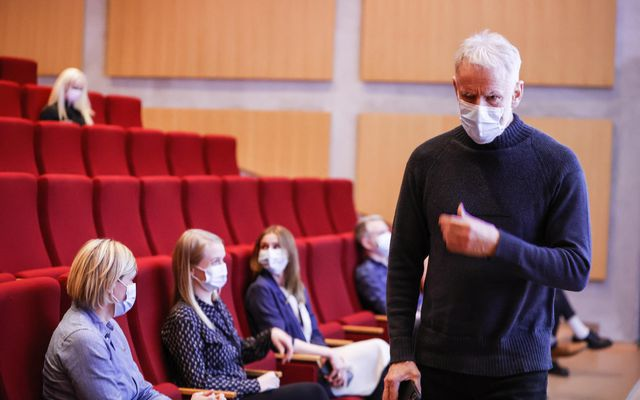 Kári Stefánsson, CEO of deCode Genetics, at yesterday's meeting.