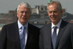 John Major og Tony Blair.