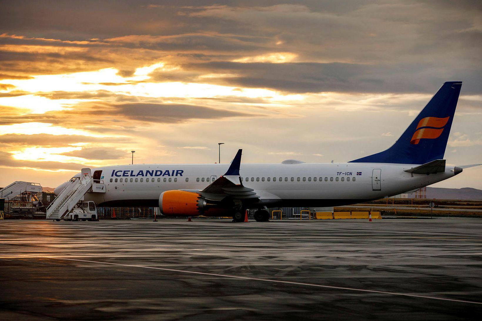 Ein af Boeing MAX 8 flugvélum Icelandair.