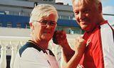 Hjónin Hrefna Sigurðardóttir og Karvel Lindberg Karvelsson gefa ekkert eftir í stuðningi sínum við Tottenham …