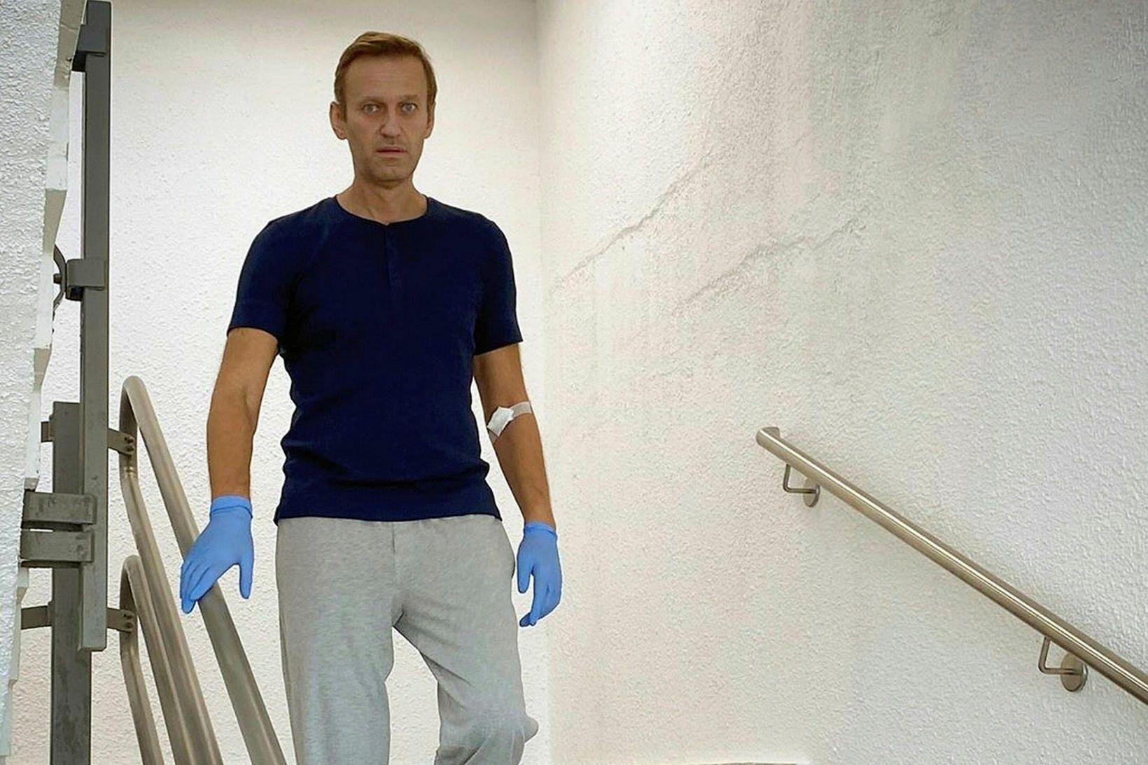 Alexei Navalní, helsti stjórnarandstæðingur Rússlands, dvelur nú á sjúkrahúsi í …