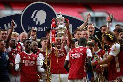 Arsenal varð bikarmeistari um síðustu helgi.