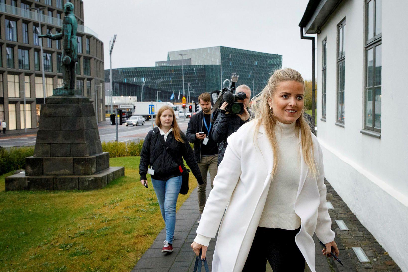 Áslaug Arna Sigurbjörnsdóttir dómsmálaráðherra hefur boðað til blaðamannafundar í Ráðherrabústaðnum …