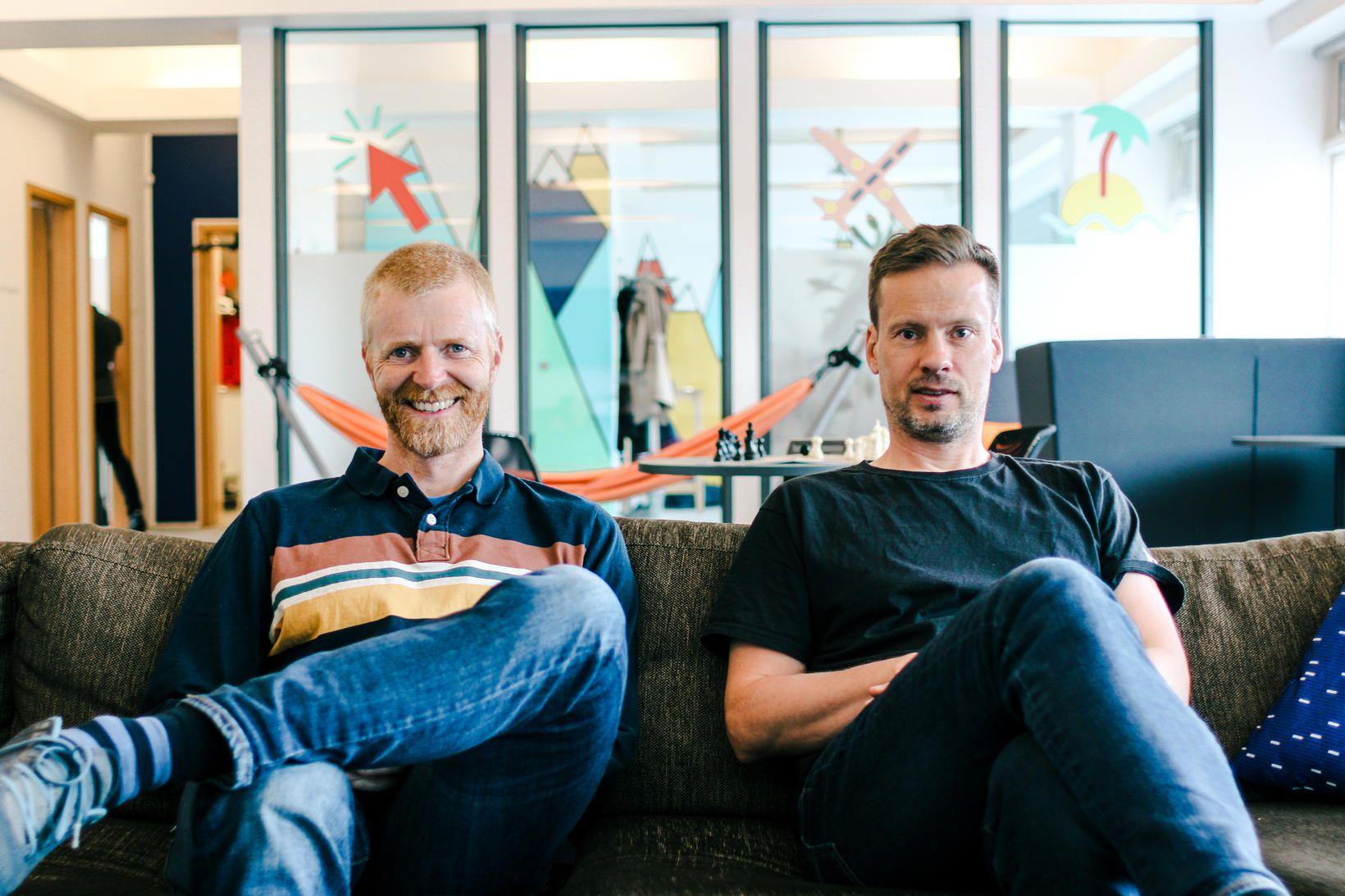 Kristján Guðni Bjarnason, tæknistjóri Dohop og Ingi Fjalar Magnússon, tæknilegur …