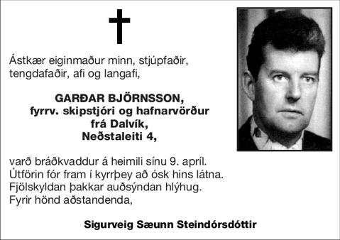 Garðar Björnsson,