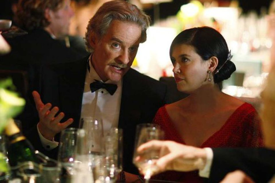 Hjónin Kevin Kline og Phoebe Cates.