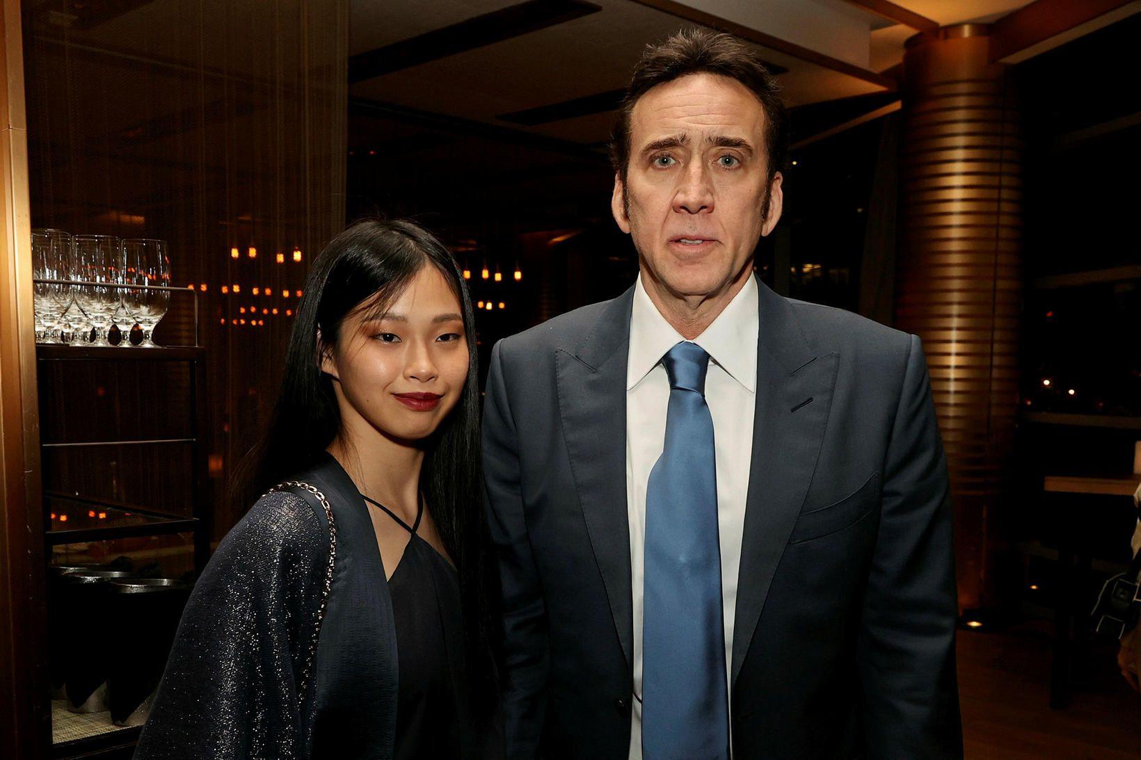 Riko Shibata og Nicolas Cage.