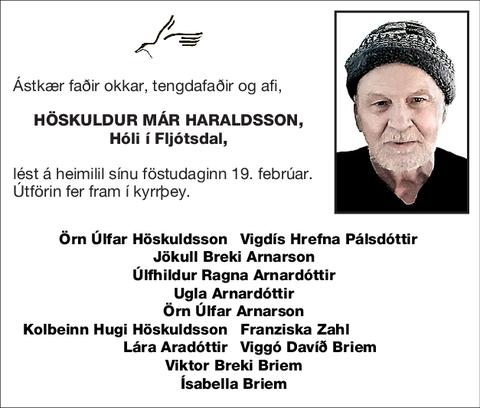 Höskuldur Már Haraldsson,